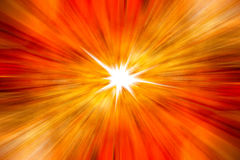 Abstract orange background. Yellow beam motion is used to design and decorate the background Stock Image
