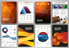 Abstract orange backgrounds, concept infographics and icons Stock Images