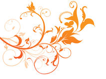 Abstract orange based floral Royalty Free Stock Image
