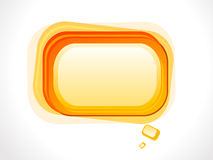 Abstract orange based glossy shape Stock Photos