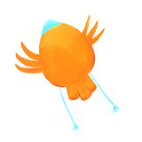 Abstract orange bird Royalty Free Stock Image