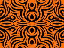Abstract Orange and black background. Royalty Free Stock Photography