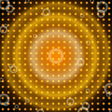 Abstract orange and black background with circles Stock Photos