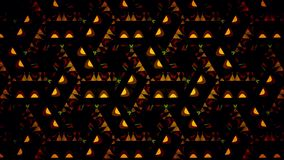 Abstract orange black and green shamming wallpaper Royalty Free Stock Photos