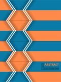 Abstract orange blue arrow brochure Stock Image