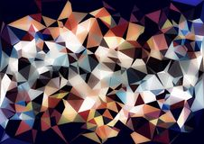 Abstract orange blue color shiny low poly bokeh wallpaper Royalty Free Stock Photos