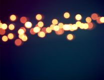 Abstract orange bokeh circles background Royalty Free Stock Image