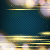 Abstract orange bokeh. Over transparent background. Gold template over black background with golden sparks. Happy new year 2016. Vector illustration stock illustration