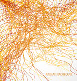 Abstract orange bright background with chaotic  Royalty Free Stock Photos