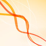 Abstract orange bright waves background Stock Photos
