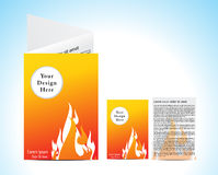 Abstract orange brochure with fire Royalty Free Stock Image