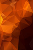 Abstract orange with brown background polygon. Stock Image
