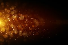 Abstract orange bubbles. Background with spot of bright light. 3D render vector illustration