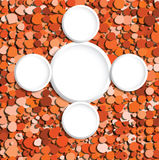 Abstract orange bubbles vector Stock Image