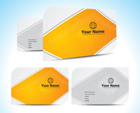 Abstract orange business cards template Stock Photo