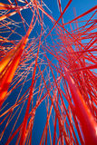 Abstract orange chaos in perspective Stock Photos