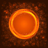 Abstract orange circle. Background and boke Vector Illustration