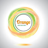 Abstract orange circle element. Royalty Free Stock Images