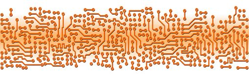 Abstract orange circuit board electronic template Stock Image