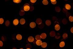 Abstract of Orange circular bokeh background. Photo abstract of Orange circular bokeh background at night of Christmaslight Royalty Free Stock Photos