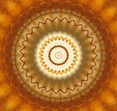abstract orange circular ornament Stock Image