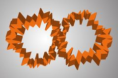 Abstract orange cogwheel like circles Royalty Free Stock Photos