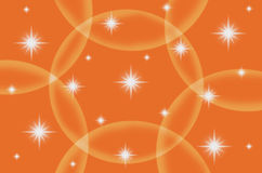 Abstract orange color background with star Stock Image