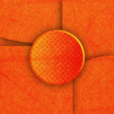 Abstract orange color on paper texture Stock Photography