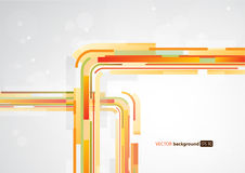 Abstract orange colorful lines Stock Photography