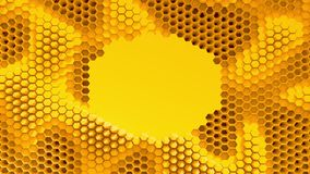 Abstract orange crystallized background. Honeycombs move like an ocean. With place for text or logo. Abstract orange crystallized background. Honeycombs move Stock Image