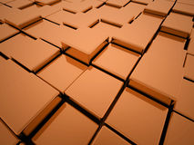 Abstract orange cubes Royalty Free Stock Images
