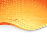 Abstract orange cubic background - geometry Royalty Free Stock Images