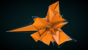 Abstract orange 3d faceted background Royalty Free Stock Photo