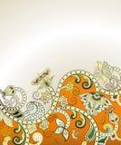 Abstract Orange Floral Stock Photos