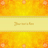 Abstract orange floral frame Royalty Free Stock Images