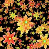 Abstract orange floral pattern. Texture background. Royalty Free Stock Images