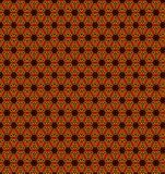 Abstract orange flower pattern wallpaper. Abstract orange flower pattern background stock illustration