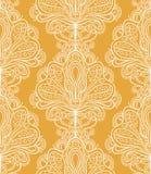 Abstract orange flowers Stock Image