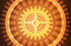Abstract orange gears background Stock Image
