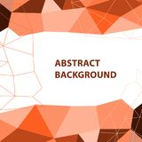Abstract orange geometric background with polygon design Royalty Free Stock Photo