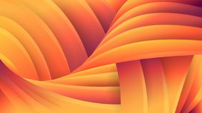 Abstract orange geometric background. Spiral. Vector futuristic three-dimensional image. The effect of macro. stock illustration