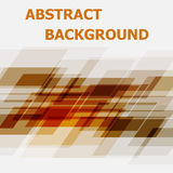 Abstract orange geometric overlapping design background Stock Photography