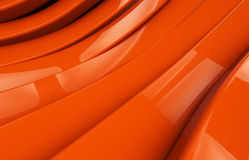 Abstract orange glossy metal Background Royalty Free Stock Photos