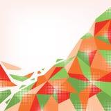 Abstract orange-green background. Creative abstract geometric orange-green background Stock Image
