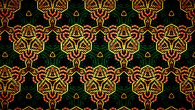 Abstract orange and green color pattern wallpaper Stock Images