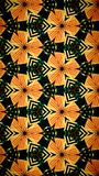 Abstract orange and green color pattern wallpaper Stock Image