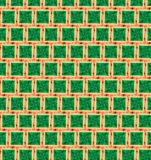 Abstract orange and green color pattern wallpaper Stock Photos