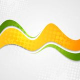 Abstract orange green waves grunge background Royalty Free Stock Photography