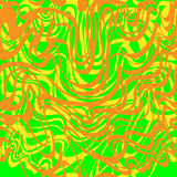 Abstract orange, green and yellow moire bubble gum pattern. Abstract curve lines wave background vector illustration