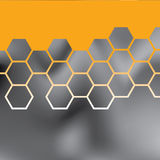 Abstract orange grid background Royalty Free Stock Photo
